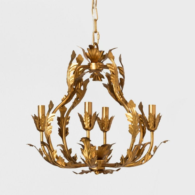 If you love vintage decor, hurry to Target to check out the new Opalhouse collection. This Italian gold chandelier is just one of the fabulous vintage-style pieces you'll find at great prices! #opalhouse #targetstyle #vintagestyle #chandelier