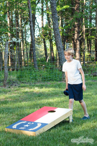 North Carolina State Flag Custom Cornhole Boards