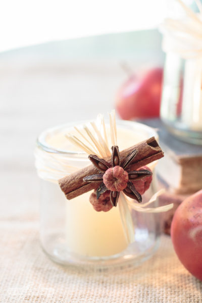 Fall Tealight Candle Holders Made From Oui Yogurt Jars