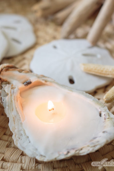 DIY Oyster Sea Shell Candles
