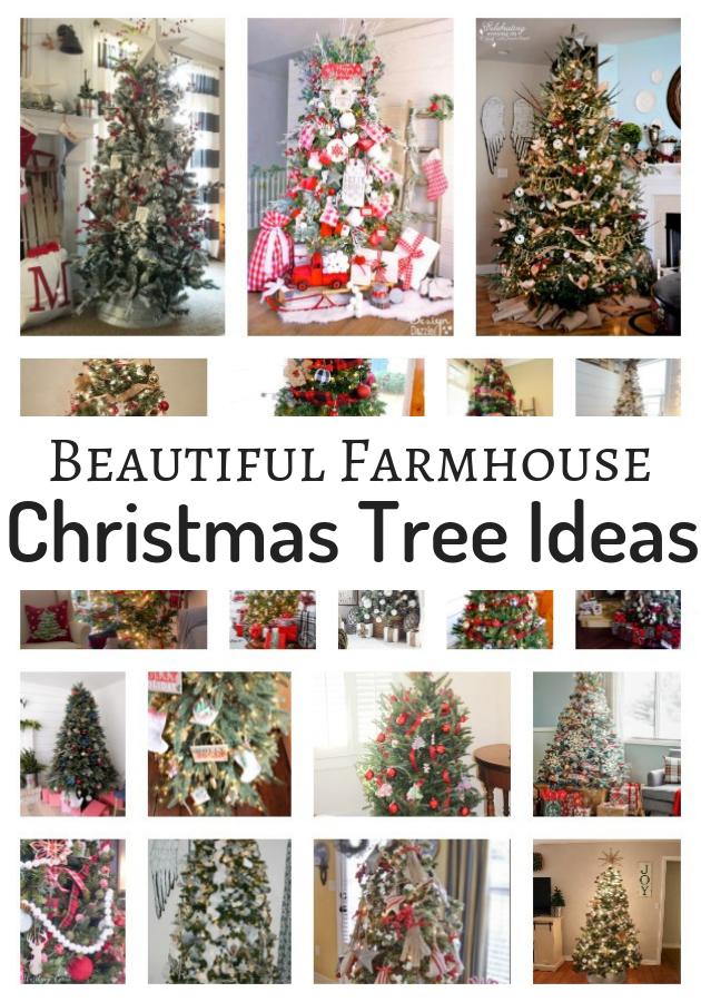 Beautiful Farmhouse Christmas Tree Decorating Ideas Atta Girl Says Pinterest Collage