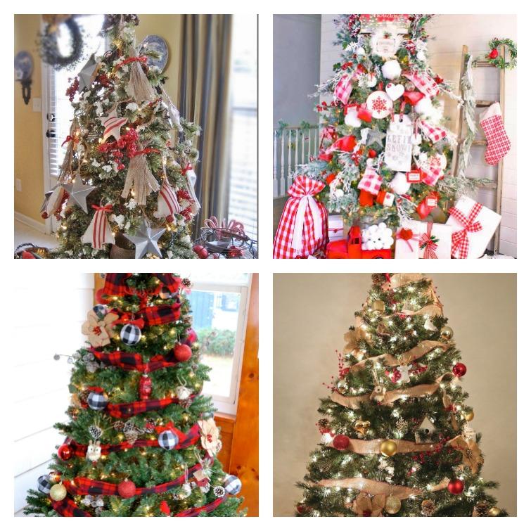 Farmhouse Christmas Tree Collage Atta Girl Says