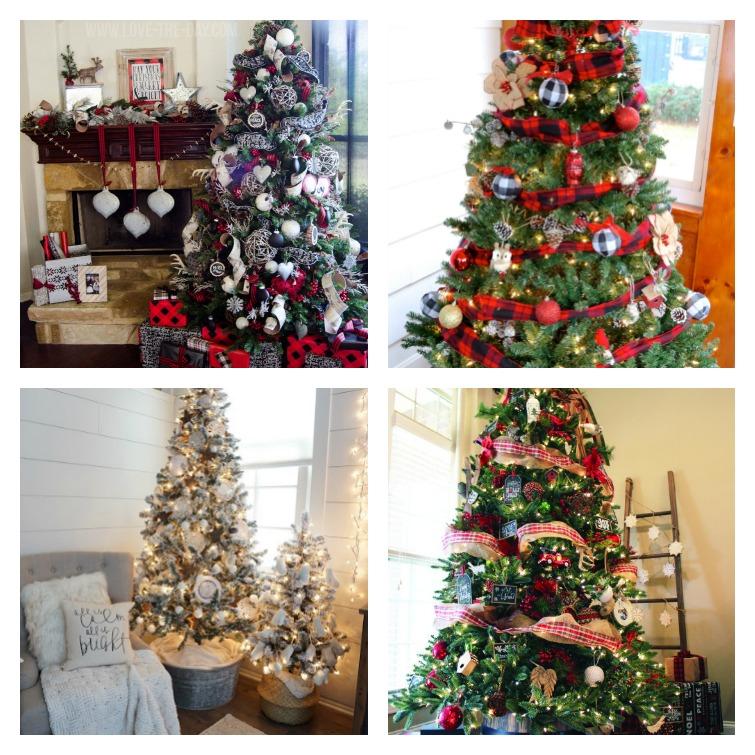 Farmhouse Trees Collage Atta Girl Says