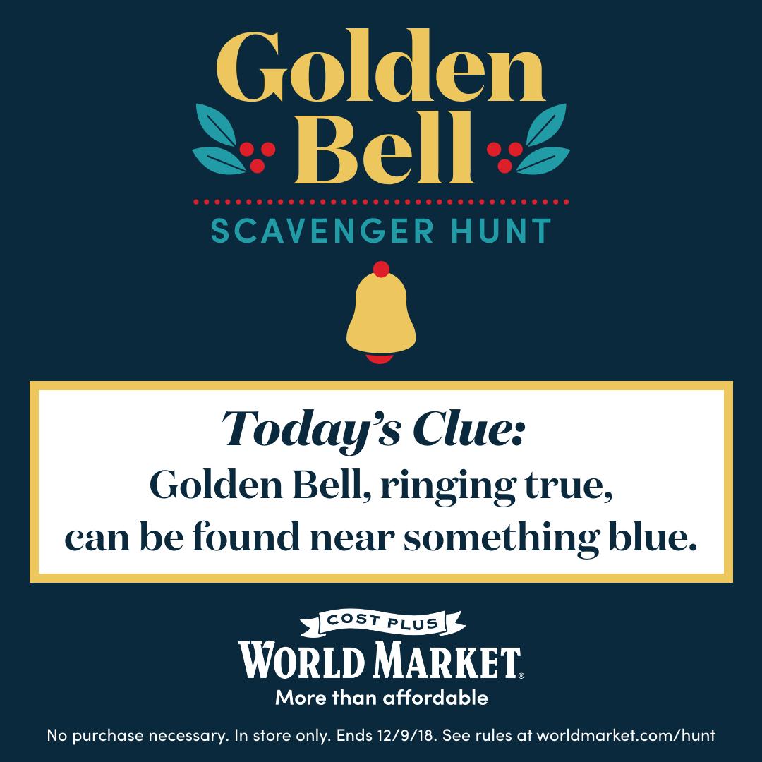 World Market Golden Bell Clue Day #1
