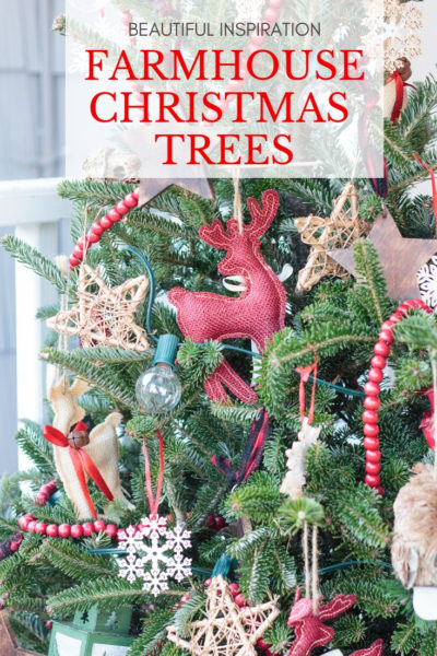 Beautiful Farmhouse Christmas Tree Decorating Ideas