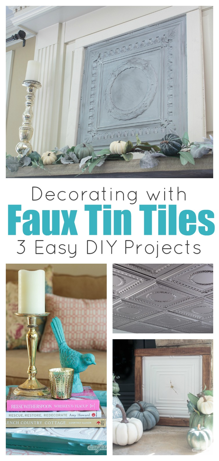 Collage Photo Led Decorating With Faux Tin Tiles 3 Easy Diy Projects Showing Oversized