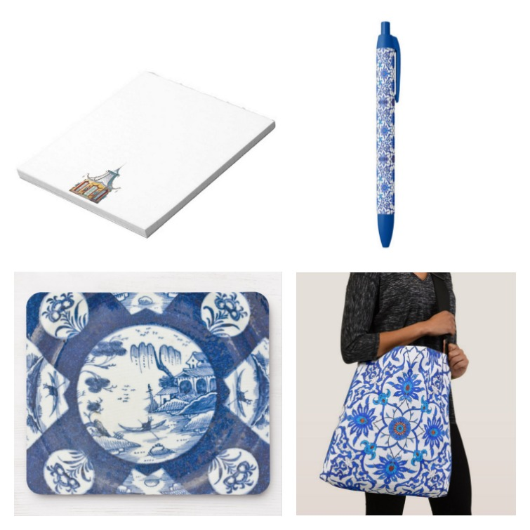 chinoiserie office supplies