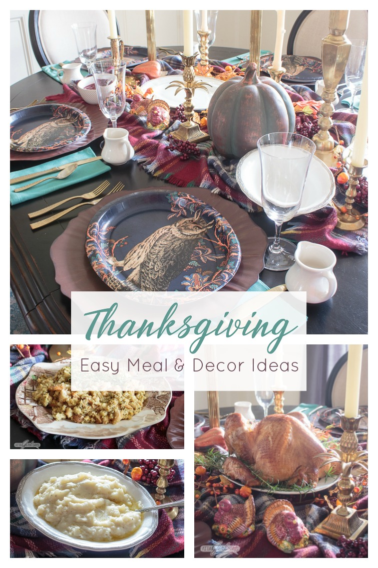 collage photo titled Thanksgiving Easy Meal & Decor Ideas