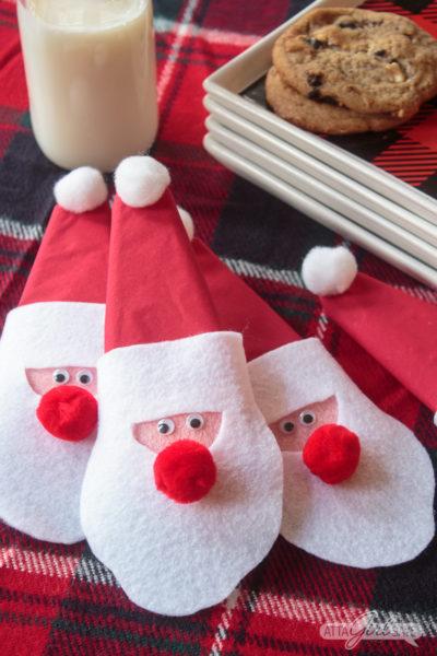 Felt Santa Christmas Napkin Rings