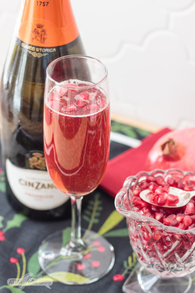 Festive & Easy Pomegranate Mimosa