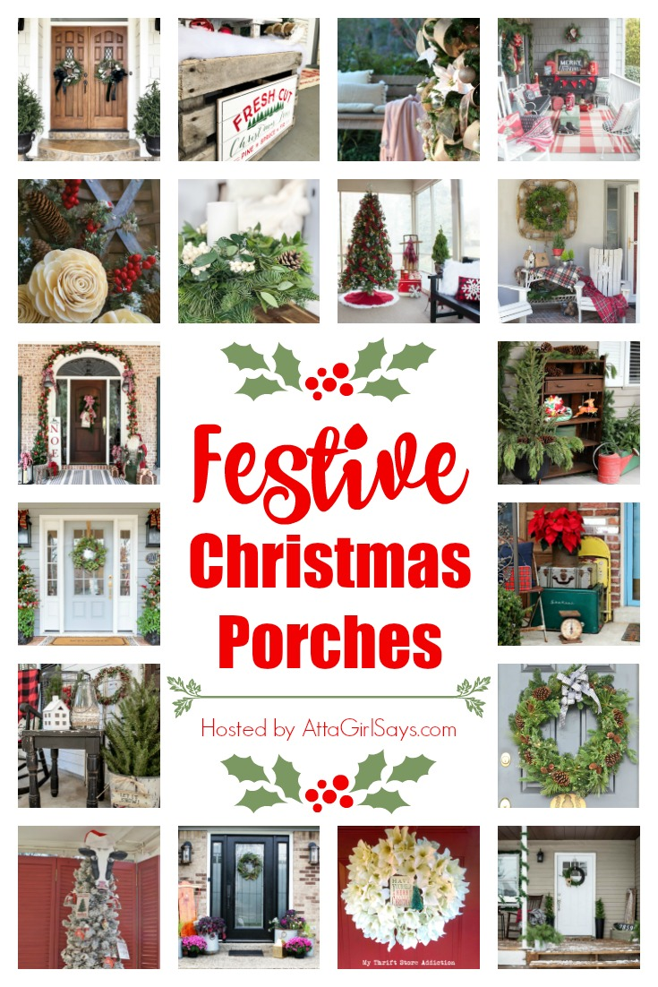 Festive Christmas Porches - See 18 Christmas porches decorated for Christmas. #christmas #christmasdecor #christmasdecorating #christmasporch