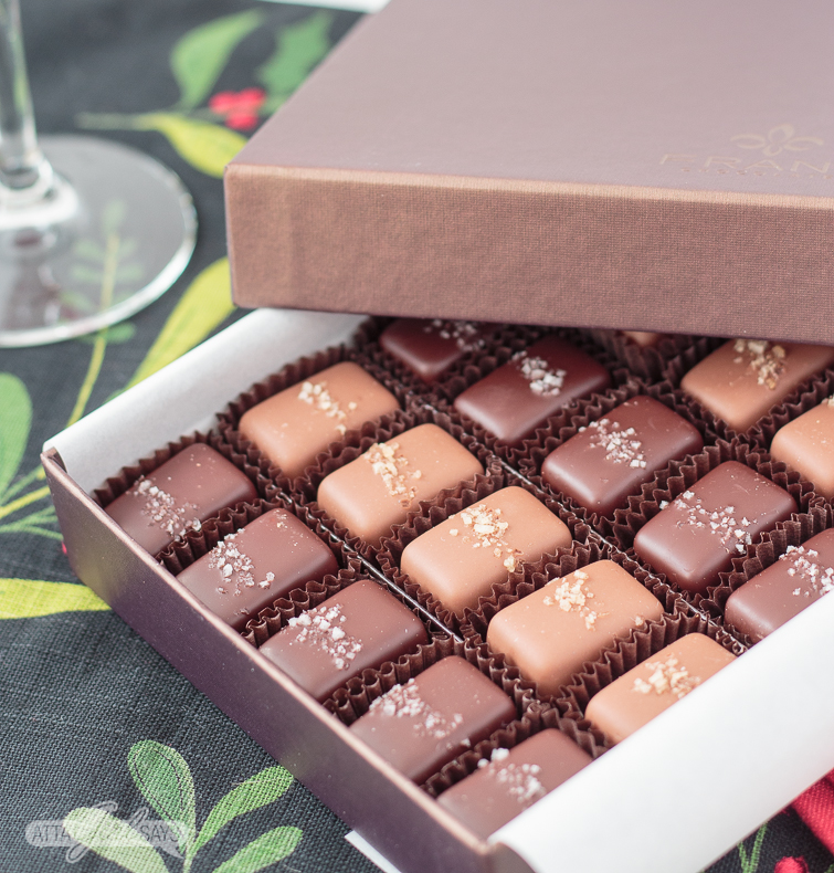 box of salted chocolate caramels