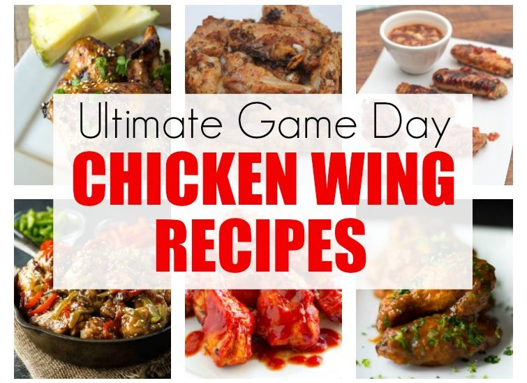 collage showing 12 different chicken wing recipes