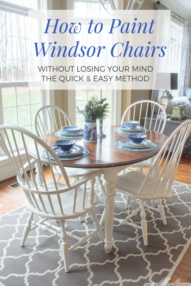 Windsor Dining Chairs Don\'t Have to Take Forever to Paint