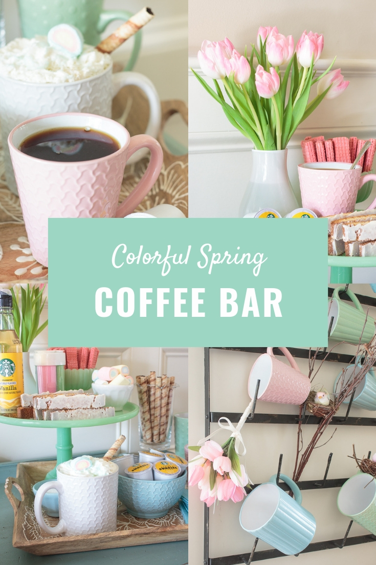 colorful spring coffee bar