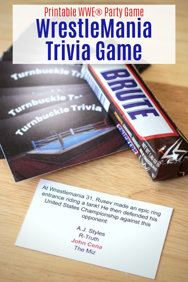 picture about Printable Trivia Game named Printable WrestleMania Trivia Card Recreation - Atta Woman States