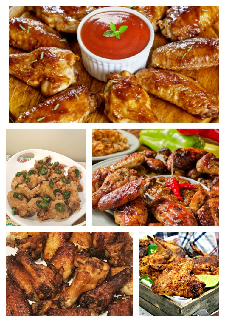 5 different Chicken Wing Air Fryer recipes