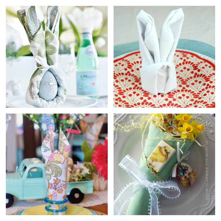 Easter Napkin Fold Ideas Atta Girl Says