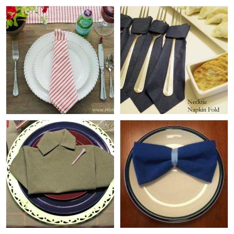 Father's Day Napkin Fold Ideas Atta Girl Says