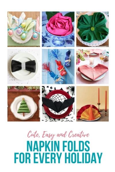 Napkin Folding Ideas for Every Holiday
