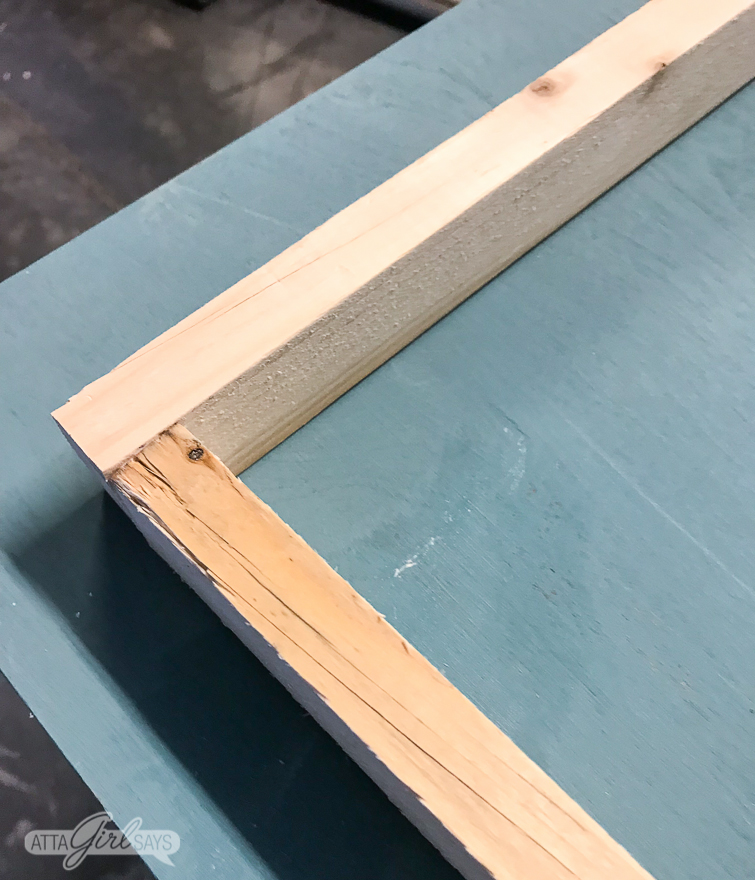 creating a frame using wooden furring strips