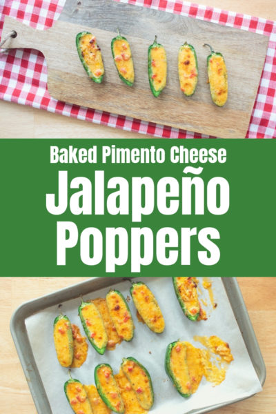 Baked Jalapeño Poppers Stuffed with Pimento Cheese