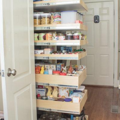 pantry organization ideas using Shelf Genie Glide-Out shelving system
