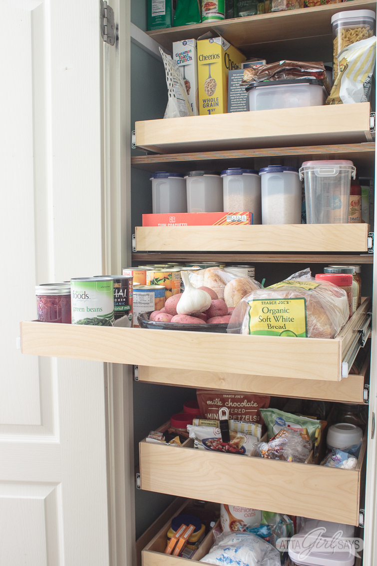 pantry organization ideas using Shelf Genie Glide-Out shelving system