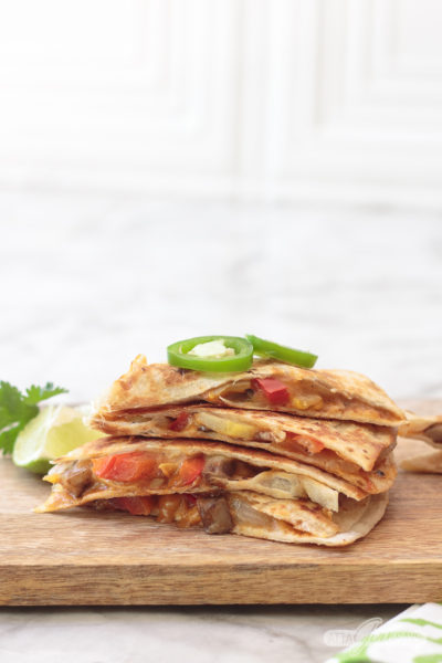 Fajita Veggie Quesadilla Recipe