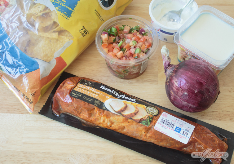 ingredients to make slow cooker pulled pork nachos