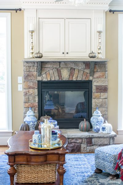 Blue & White Decor for Fall
