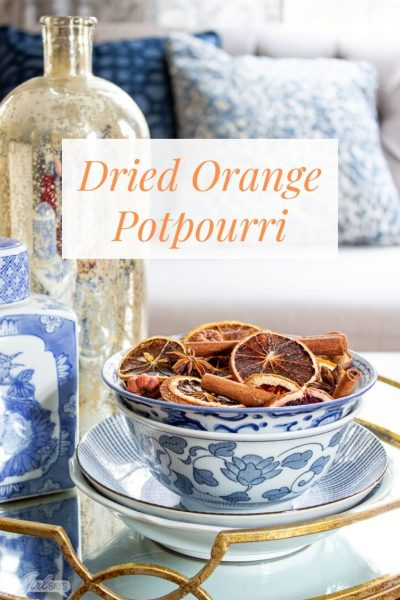 Christmas Potpourri with Dried Oranges & Cinnamon