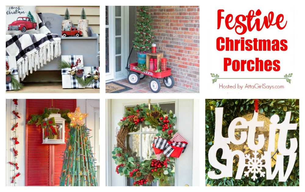 Festive Christmas Porches graphic.