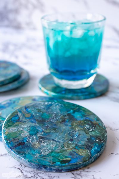 Alcohol Ink Marble Coasters