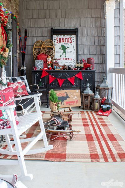 Santa's Little Helpers Christmas Front Porch