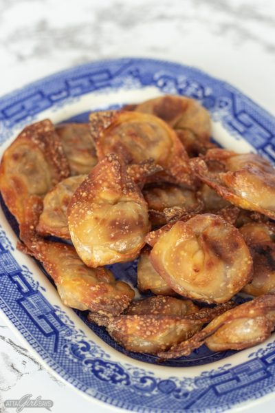 Crispy Air Fryer Wontons with Pork Filling