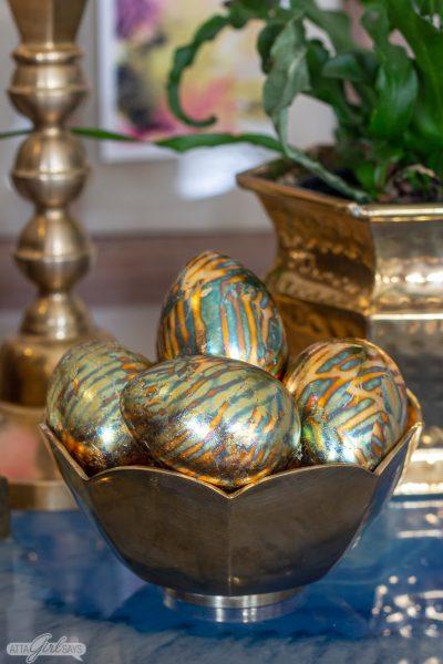 DIY Aged Copper Easter Eggs