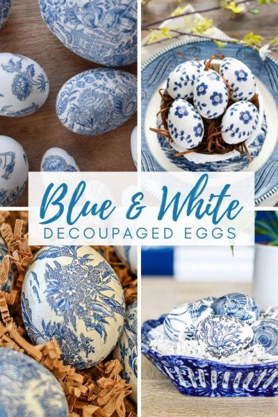 20 Gorgeous Decoupaged Easter Eggs
